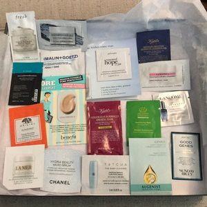 Skincare samples incl La Mer Chanel Algenist Kiehl